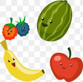 Banana Strawberry Vector Elements - Apple Cartoon PNG