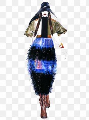 Buffett Painted Skirt Suit - Fashion Illustration Model Fashion Design Illustration PNG