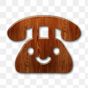 Wood Icon - Telephone Mobile Phones Off-hook Text Messaging PNG