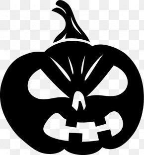 Pumpkin Head Silhouettes - Halloween Jack-o'-lantern Pumpkin Sticker Decal PNG