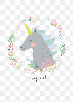 Cartoon Unicorn - Unicorn Pastel Legendary Creature Illustration PNG