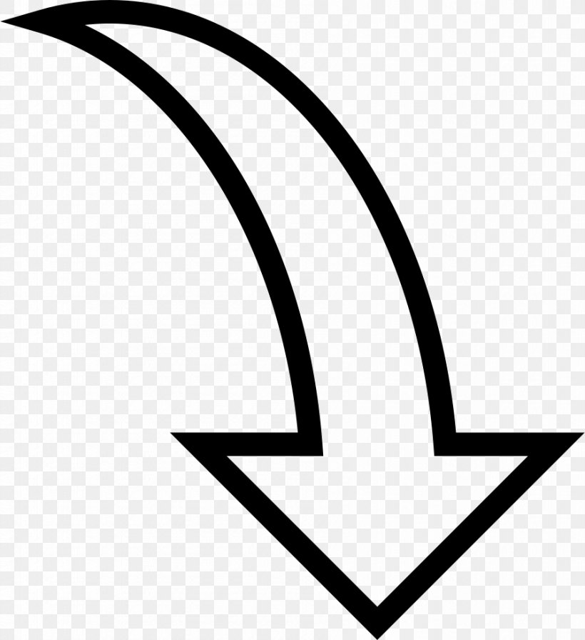 Arrow Curve Drawing Clip Art, PNG, 896x980px, Curve, Area, Black, Black And White, Drawing Download Free