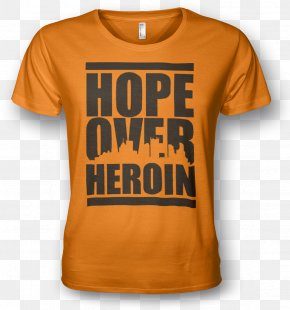 T-shirt - Hope Over Heroin T-shirt Opioid Use Disorder Addiction PNG