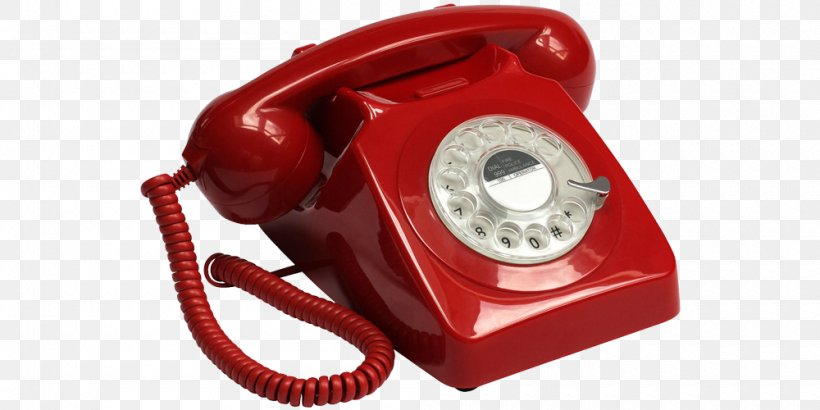 Rotary Dial Push On Telephone Home