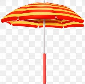 Striped Beach Umbrella Clip Art Image - Umbrella Clip Art PNG