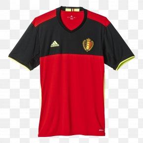 T-shirt - Jersey T-shirt Belgium National Football Team Adidas PNG