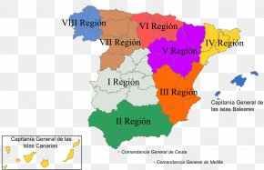 Military - Military Region Of Spain I Regió Militar Spanish Civil War Autonomous Communities Of Spain PNG