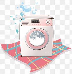 Automatic Washing Machine - Washing Machine Cartoon Laundry PNG