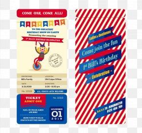 Creative Clown Vector Material Birthday Invitation Card - Ticket Clip Art PNG