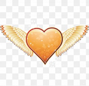 Angel Wings LOVE - Heart Angel Valentines Day Wallpaper PNG