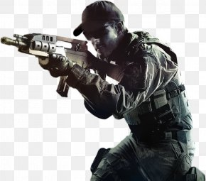 Call Of Duty Picture - Airsoft Gun Soldier Marksman Military PNG