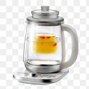 Silver Double Glass Electric Kettle - Blender Kettle Teapot Glass Electricity PNG