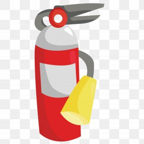 Exquisite Fire Extinguisher - Fire Extinguisher Firefighter Sticker Conflagration PNG