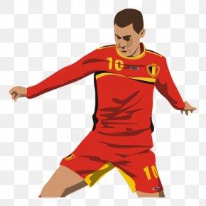 Portraits Vector - Football Player Belgium National Football Team Animation PNG