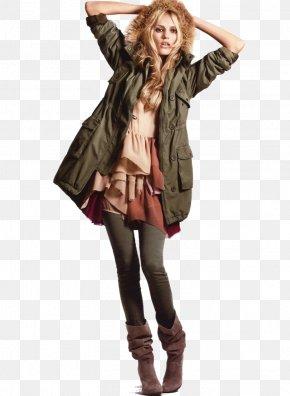 Fashion Model Image - Fashion Jacket H&M Parka Coat PNG