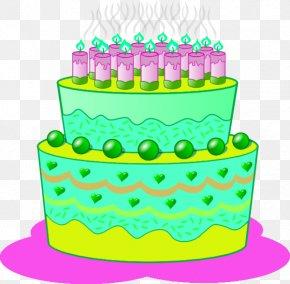 Birthday Cake - Birthday Cake Cupcake Frosting & Icing Clip Art PNG