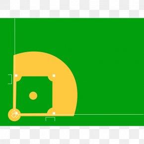 Baseball Diamond Diagram - Baseball Field Baseball Park Clip Art PNG