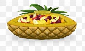 Pineapple Pie - Fruit Salad Pineapple Pie Clip Art PNG