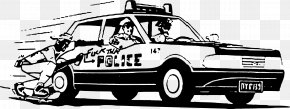 Hand-painted Vector Police Car - Police Car Police Officer PNG