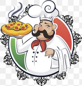 Cartoon Chef - Pizza Italian Cuisine Chef Cooking PNG