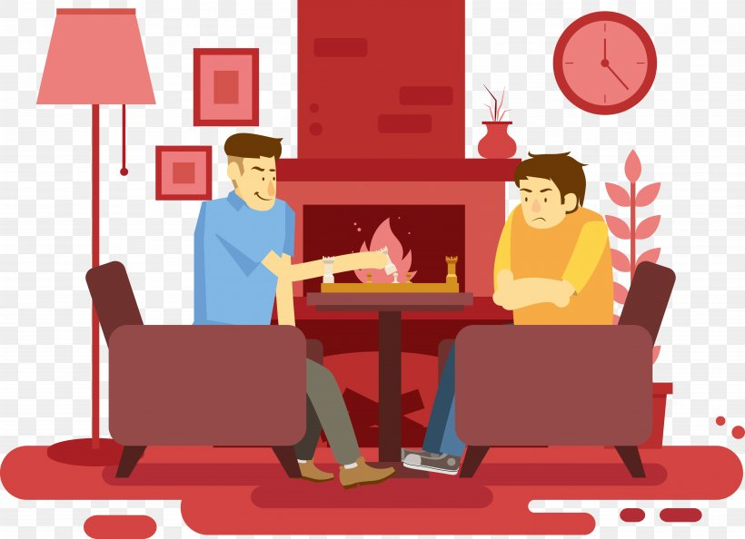 Cartoon Living Room Png 5009x3630px Cartoon Animation Caricature Communication Conversation Download Free
