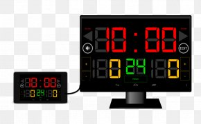 Score Board - Scoreboard Display Device Cartoon Basketball Go Game Clock PNG