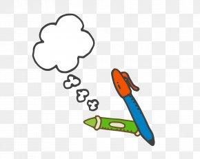 Hand-painted School Supplies Pen - Pen School Supplies PNG