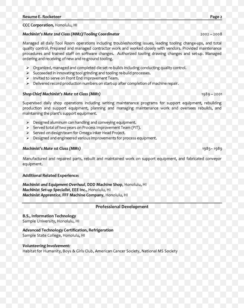 Resume Template Mechanical Engineering Png 800x1035px Resume