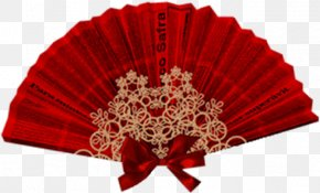 Moulin Rouge - Hand Fan Red Paper PNG