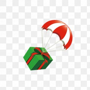 Parachute Gift Element - Gift Hot Air Balloon PNG