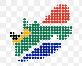 Color South Africa Map - South Africa Clip Art PNG