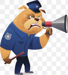Caricature Designs The Image Of Police - Bulldog Police Officer Illustration PNG