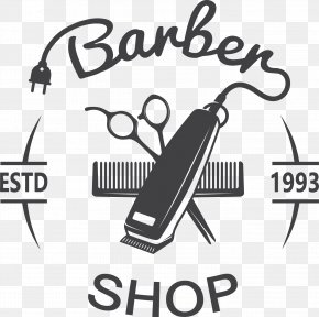 Barber Shop Sign - Hair Clipper Comb Hairstyle Barber Hairdresser PNG