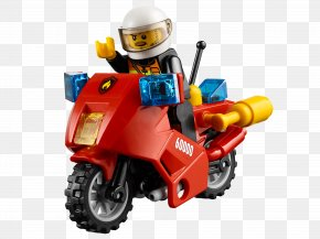 Lego - Lego City Motorcycle Lego Minifigure Toy PNG