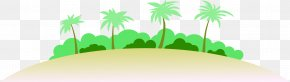 Hand-painted Island - Travel Literature Love Wallpaper PNG