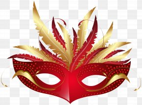 Red Carnival Mask PNG Transparent Clip Art Image - Blacks And Whites' Carnival Mask Clip Art PNG