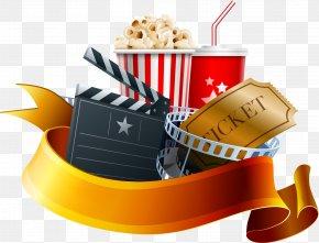 Vector Popcorn - Film Poster Cinema Clapperboard PNG