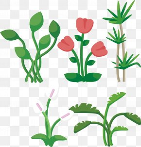 Red Tulips - Leaf Plant Euclidean Vector Tree PNG