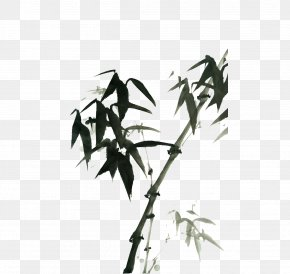 Ink Bamboo - Bamboo Ink Wash Painting Download PNG