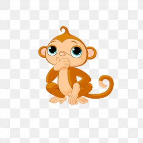 New Monkey Cartoon Elements - Cartoon Monkey Clip Art PNG