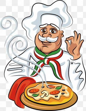 Take The Pizza Cartoon Chef - Pizza Italian Cuisine Chef Cook PNG