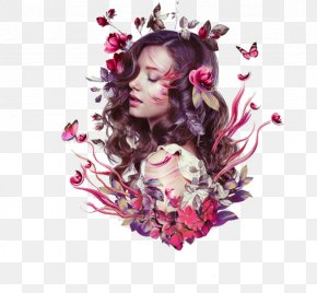 Flowers Butterfly Goddess - Photo Manipulation Portrait Tutorial PNG