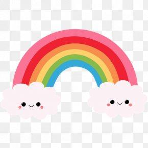 Kawaii Cliparts - Rainbow Cartoon Drawing Clip Art PNG