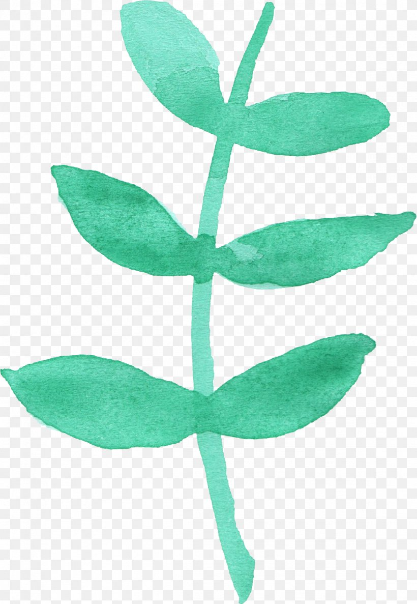 Leaf Watercolor Painting Plant Stem, PNG, 1161x1682px, Leaf, Autumn Leaf Color, Blue, Green, Plant Download Free