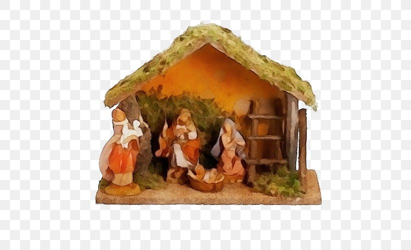 Christmas Decoration, PNG, 500x500px, Watercolor, Christmas Decoration, Figurine, Hut, Interior Design Download Free
