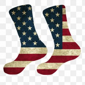 United States - Flag Of The United States T-shirt Sock PNG