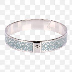 Silver Edge Bracelet - Bangle Bracelet Silver Ring PNG