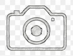 Line Art Camera Icon - Camera Icon PNG