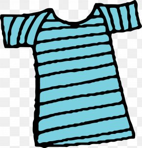 Hand Painted Blue T-shirt - T-shirt Blue Sleeve PNG