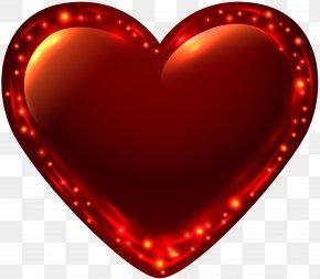 Fiery Glowing Heart Clip Art Image - Heart Clip Art PNG